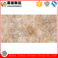 Chinese neat and clean bathroom marble look glazed ceramic tiles and metallic glazed ceramic tiles in white color for sale