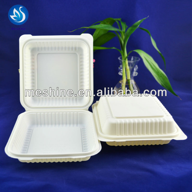 Natural corn starch pulp microwaveable plastic food container