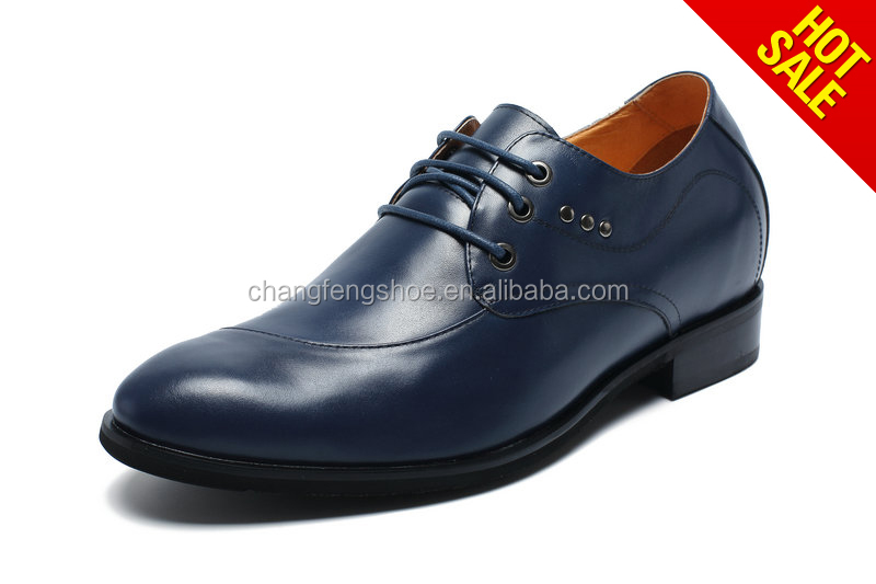 High class famous brand high top casual shoes/hidden height insole shoes/handmade italian leather shoes