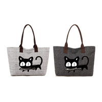 2016 Famous Brand Women Handbag Fashion Female Cat Ladies Large Cluth Bag Women Canvas Casual Handbags shoulder Tote Bag