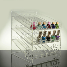 Fashion factory custom clear plastic acrylic nail polish showcase display small display rack
