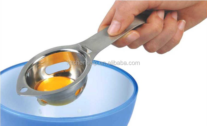 Cookware yolk white metal egg seperator