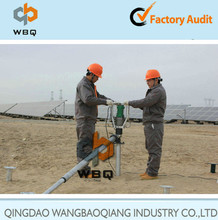WBQ HD-05 electric screw pile machine for construction, solar power system, PV mounting structure