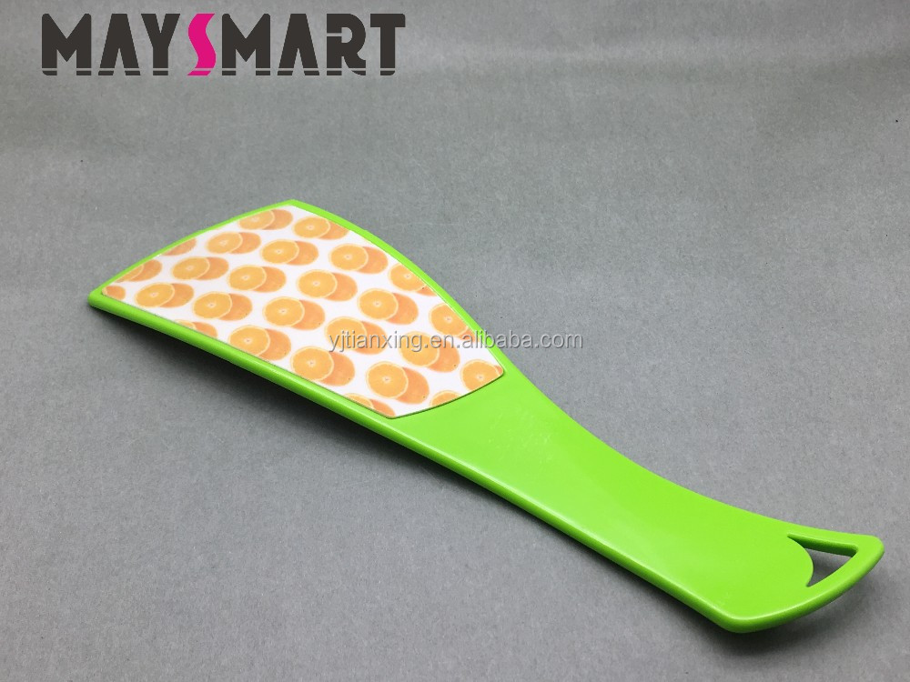 Double-sided Green Handle and Orange Pattern Foot File Callus Remover