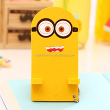 Hot selling high quality low price customized gifts NEW 3D cute soft pvc blue plastic mobile phone holder