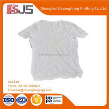 White t-shirt 100% cotton waste rags low prices 20kg/bales