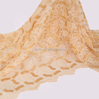 Indian mumbai best selling 2016 alibaba cord lace / metallic gold african lace fabric / high quality embroidery guipure lace