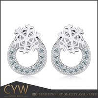 CYW new design snowflake silver jewelry gold jewelry 925 sterling silver Stud earrings Morocco jewelry