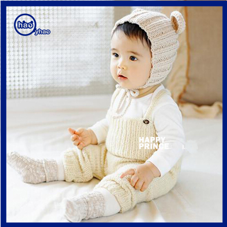 Yhao Wholesale Infants&Toddlers knit beanie knit slouchy beanie hat Winter Beanie