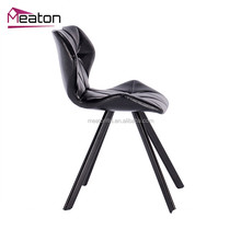 Contemporary upholstered solid dining chairs restaurant chair