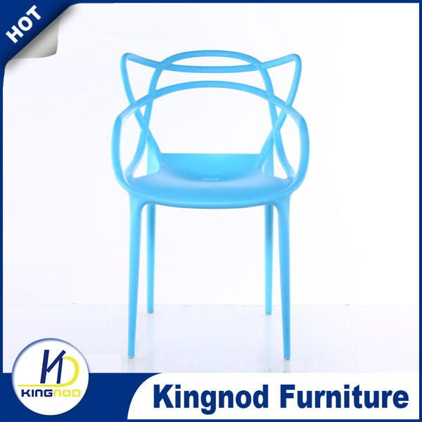 Hot sale modern outdoor plastic garden chair stackable plastic chair with arm