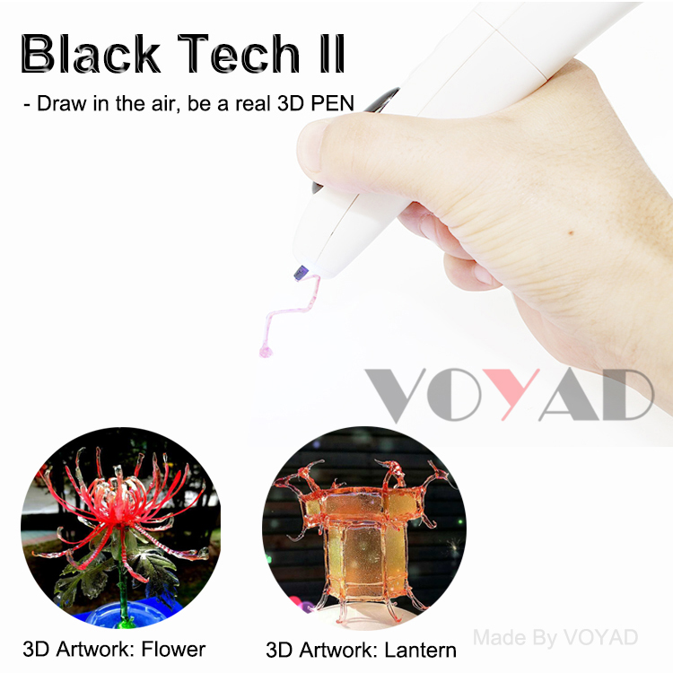 Lowest temperature 3d drawing pen manufacturer build-in rechargeable battery