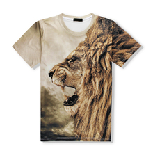 New arrival top sale 3d printing color t-shirt custom animal 3d t-shirt