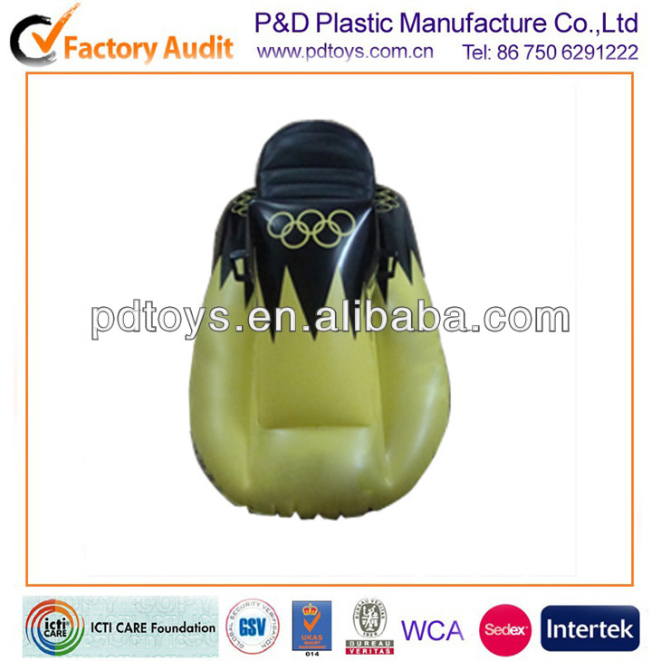 0.6mm PVC Inflatable plastic snow ski car for kids