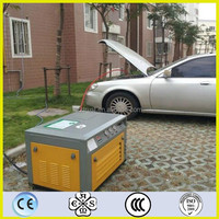 Refulling natural gas car/van/truck/fork-lift/commercial vehicle with home CNG compressor