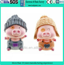 custom plastic Pig shape cartoon anime toy,custom plastic pvc cartoon pig figure toys