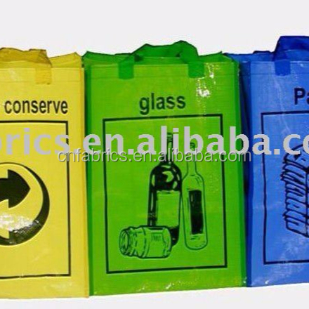 plastic tote bag PP woven garbage classification bag 2011