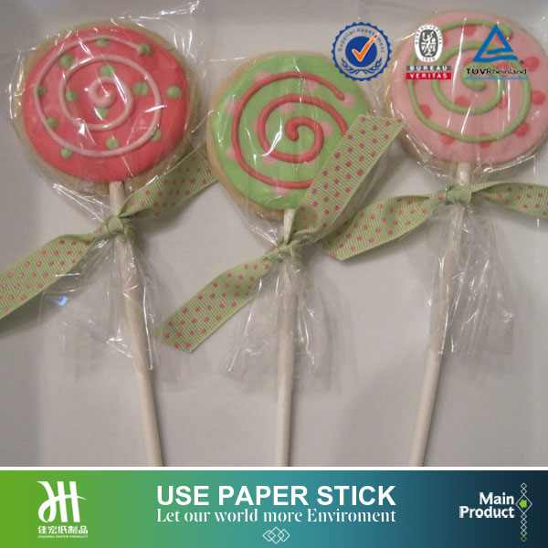 Bulk white smooth incision paper stick,cakepop lollipop candy sticks