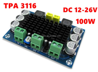 TPA3116 D2 Mono 100W Digital Audio Amplifier Board support DC12-26 v with Convection cooling