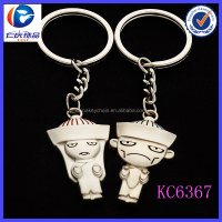 Fashion Lovely Metal The image of Arabia boy and girl couple keychains