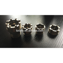 ISO approved forged brass insert manufacture using for plastic pipe