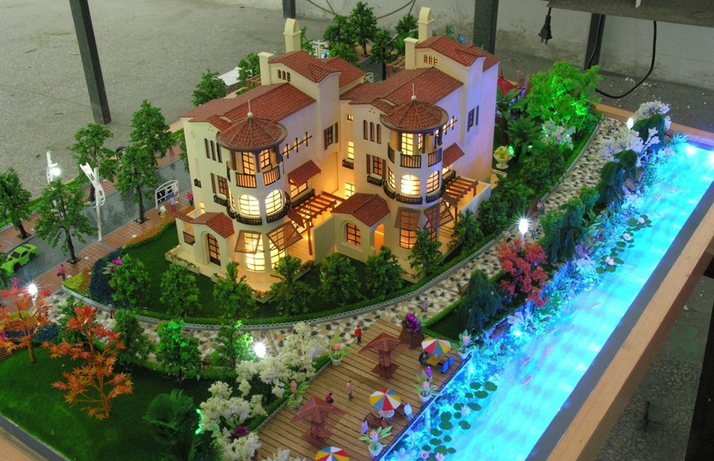 Cottage/country house/Residential house scale model making/ Architecture building making