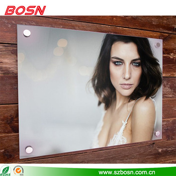Large acrylic beautiful clear wall mounted picture frame for sale