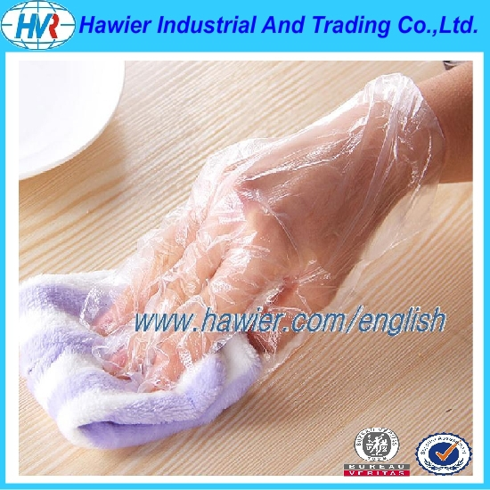 Direct buy China one use plastic disposable glove from Hawier