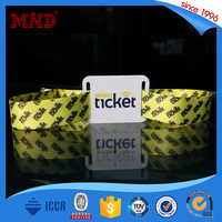 MDWW258 Polyester cheap custom Woven festival wristband with plastic/alumimun locker