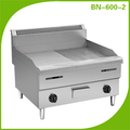2 Burners Stainless Steel Counter Top Gas Griddle /Grill Griddle For Sale BN-600-2