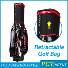 Helix bud light golf bag with wheels /majesty golf bag with wheels / wholesale golf trolley bag ,golf bag rain coer for free