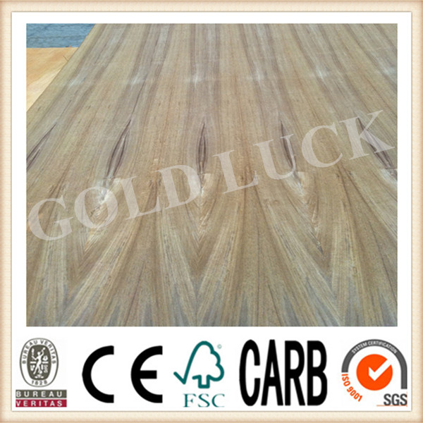Qingdao Gold Luck High Quality Teak Wood Faced Plywood