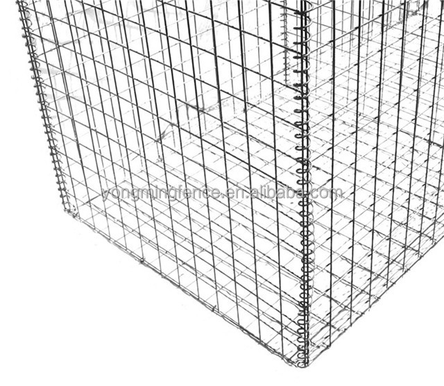 High quality 1 x 1 x 0.5 <strong>m</strong> Galvanized wire welded gabion basket for gabion walls