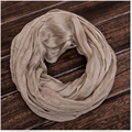 Whosale explosion soft collar comfortable folds neckerchief real silk &cotton blending loop scarf