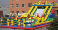 YH-W-FC194 Hot sale Inflatable amusement park inflatable fun city with slide