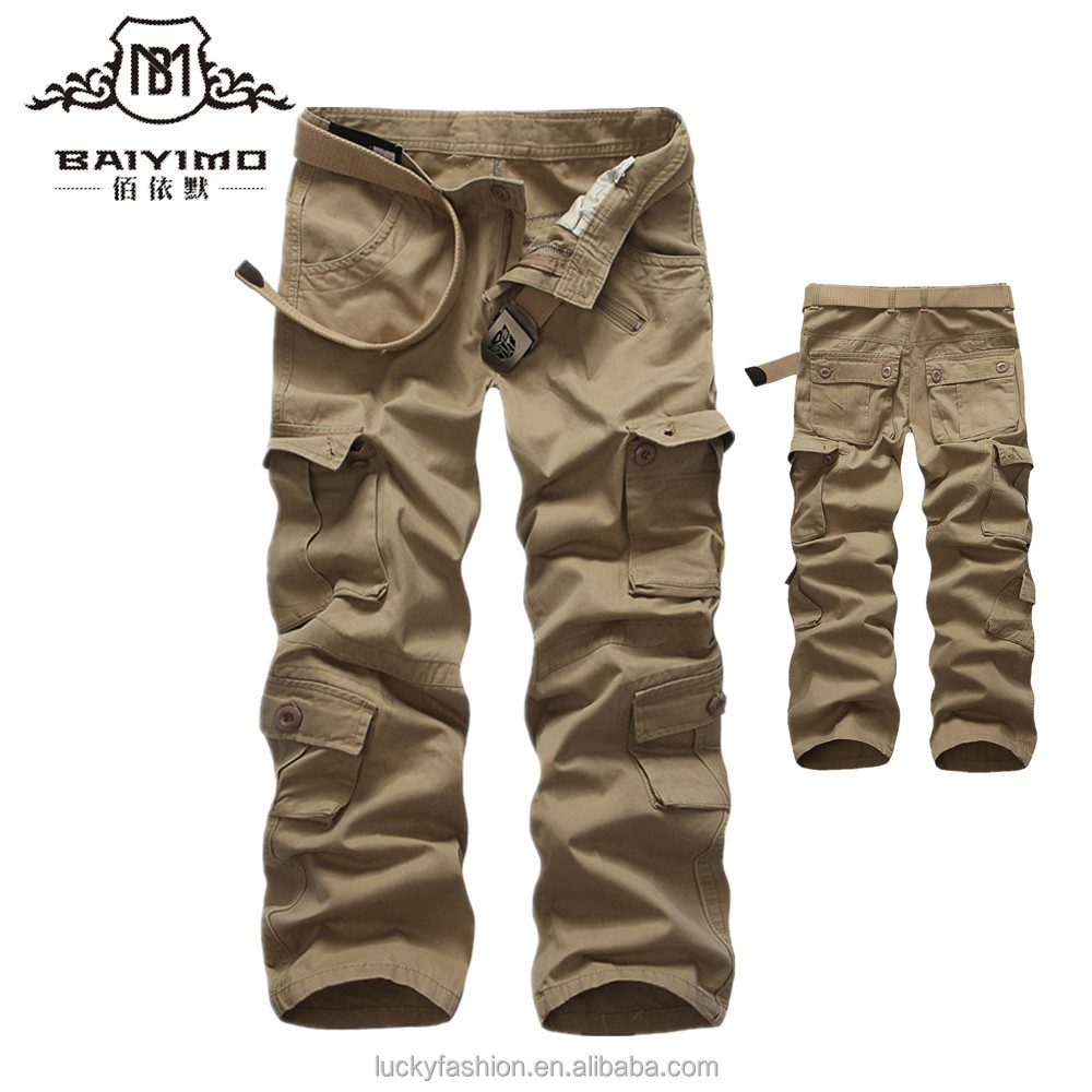 Factory Wholesale Mens Military Tactical Army Cargo Pants with Side Pockets