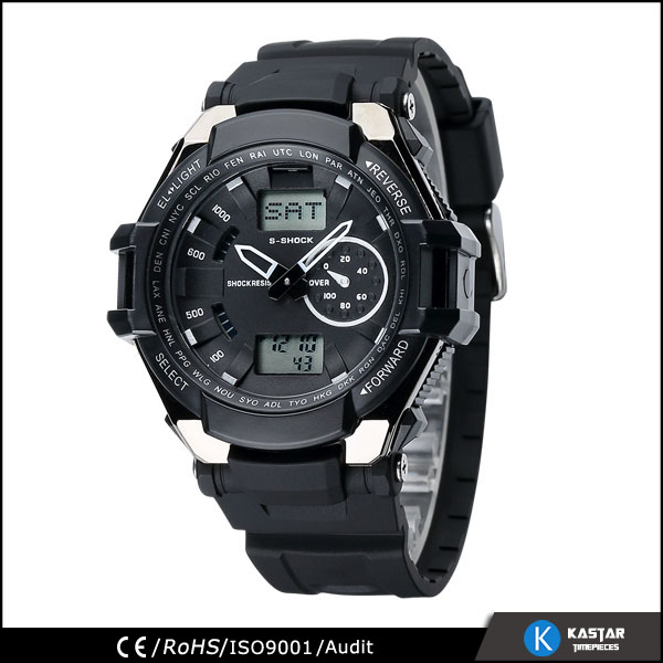world time multi-function digital watch, wrist watches for men