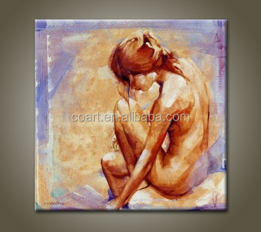 modern abstract oil painting fat woman for bedroom