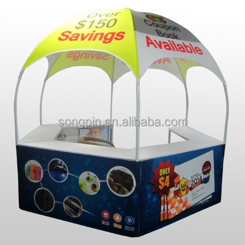 collapsible snack food and coffee dome counter booths for sale