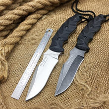 9 Inch stainess steel fixed blade hunting outdoor knife