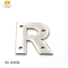 Wakison High Quality Metal Custom Letter Logo custom Letter label
