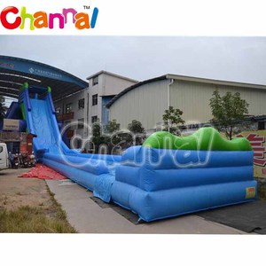 50m L giant inflatable water slide inflatable hippo slide for adults