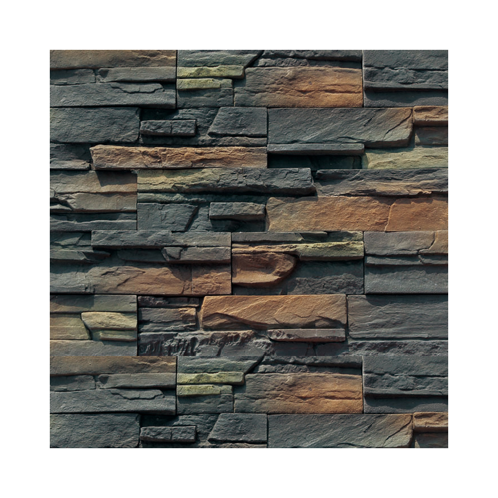 black stone wall cladding landscaping garden wall tile 3d interior faux panel sound absorbing material interior faux stone wall