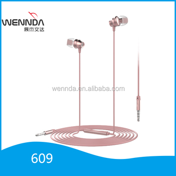 custom wired earbuds with microphone R609