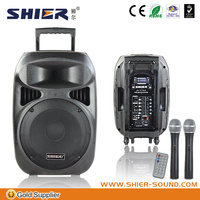 Guangzhou SHIER AK15-309 professional 2013 bluetooth active speaker with microphone priority function
