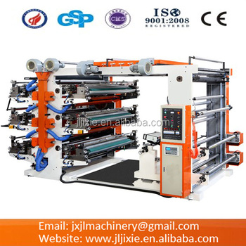 Plastic film Six-color Flexo Printing Machine