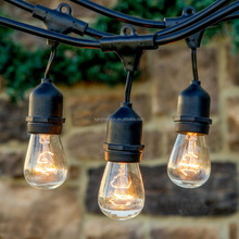110V Christmas Patio Hanging Drop Sockets E26 Incandescent Light S14 Bulb Outdoor Commercial String Lights