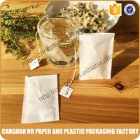 Disposable paper tea bag with custom logo