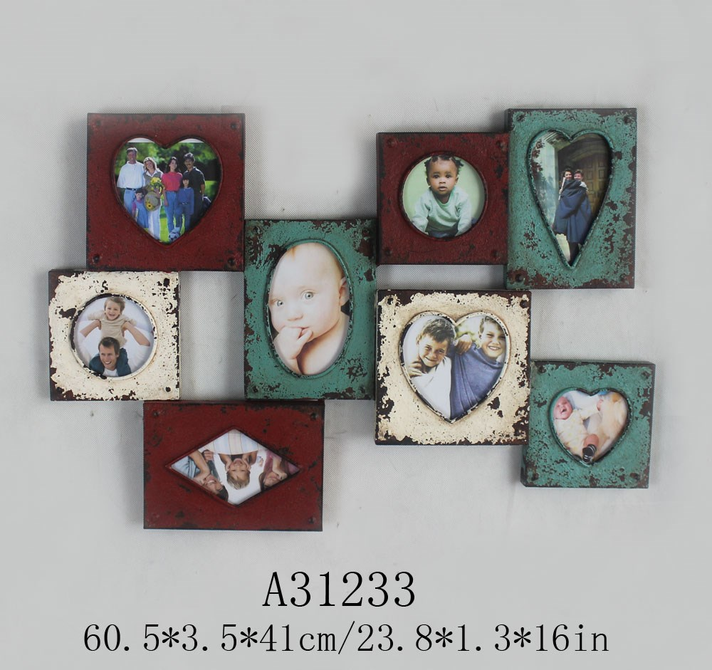 Love steel wood wooden funny picture photo frame