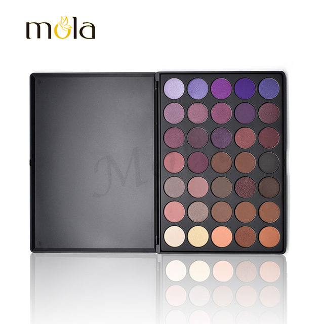 Beauty cosmetics high quality cheap price 35 color eyeshadow palette custom eyeshadow palette